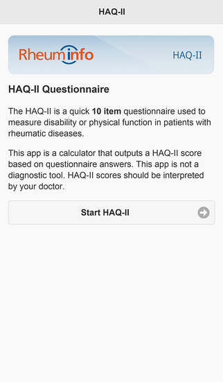 RheumInfo HAQ-II Calculator