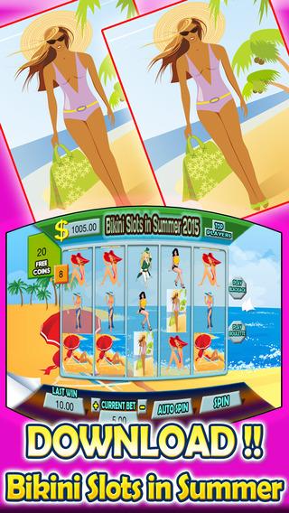 Bikini Slots in Summer 2015 and Roulette With Blackjack Huge Win Jackpot