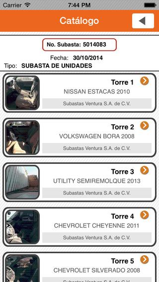 Subastas Ventura iPhone Screenshot 4