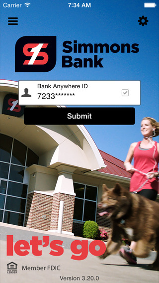 Simmons Bank Anywhere for iPhone
