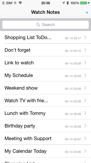 WatchNote To-Do-List for Apple Watch