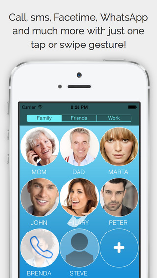 CallRight Free - your favorite contacts from the addressbook promptly available for fast calls and m