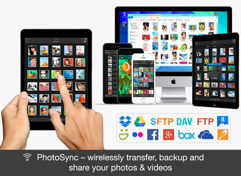 Screenshot 1 PhotoSync - wireless photo and video transfer,  backup and share app