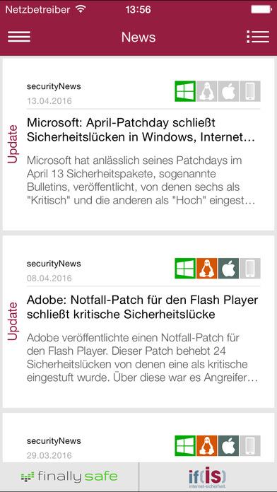 securityNews iPhone Screenshot 1