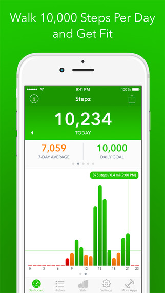 Stepz - Pedometer Step Counter for Tracking Steps