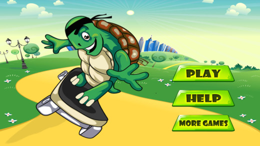 Turtle Skateboarder Super Run - City Action Obstacle Survival Game Paid