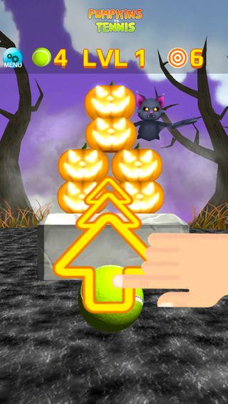 Pumpkins vs Tennis - Halloween Game - Free Edition