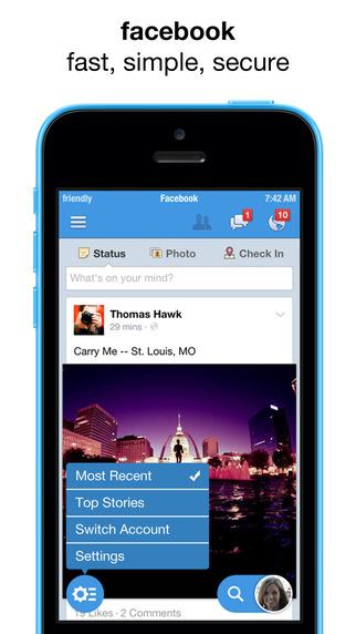 Friendly for facebook + messenger