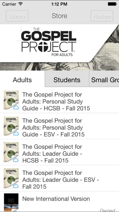 gospel project app This is the free viewer for the gospel project for kids family app once downloaded, you will be able to view the volumes that are available for purchase parents are.