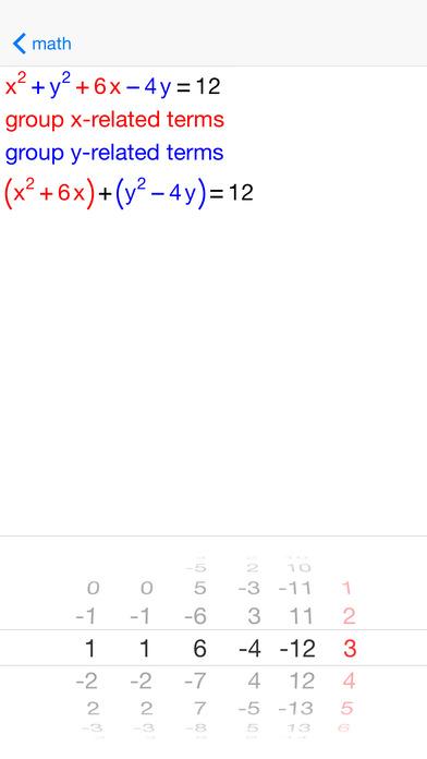 Circle Equations iPhone Screenshot 2