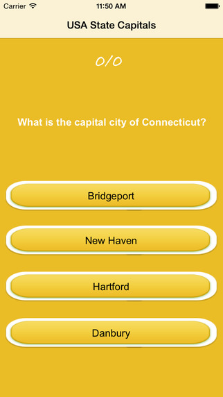 USA State Capitals and Quiz