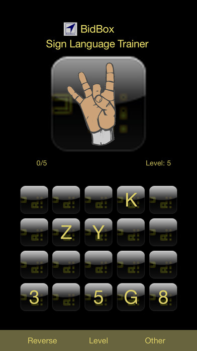 ASL Alphabet Trainer iPhone Screenshot 3