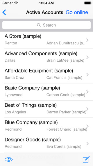 CWR Mobile CRM 5.1 for iPhone 4 Microsoft Dynamics CRM 2011 and 2013