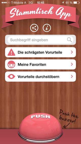 Die Stammtisch App - für Luftverbesserungen über Ö