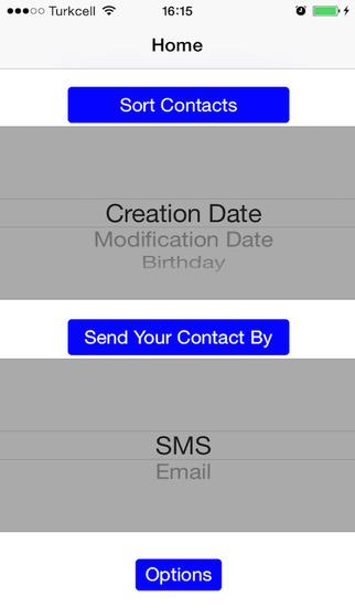 Recent Contacts-send address book by email sms