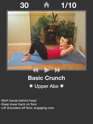 Daily Ab Workout FREE - Personal Trainer App for Quick Home Abs Workouts and Exercise Fitness Routines screenshot