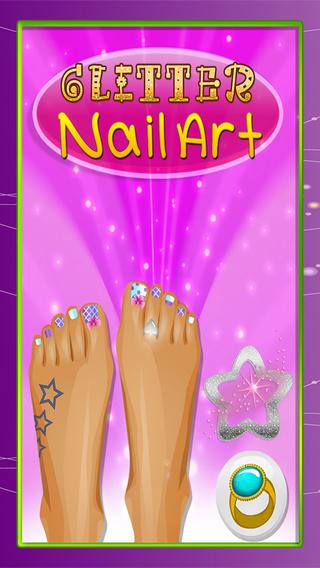 Gorgeous Glitter Toe-Nail Art Design : Foot Polish Salon And Pedicure Spa Tutorial PRO
