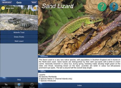 HerptileId - Reptiles and Amphibians of the British Isles iPad Screenshot 3