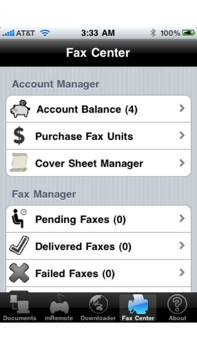 Document Downloader (with Printing, Fax Postal Mail and Real Postcards) iPhone Screenshot 5