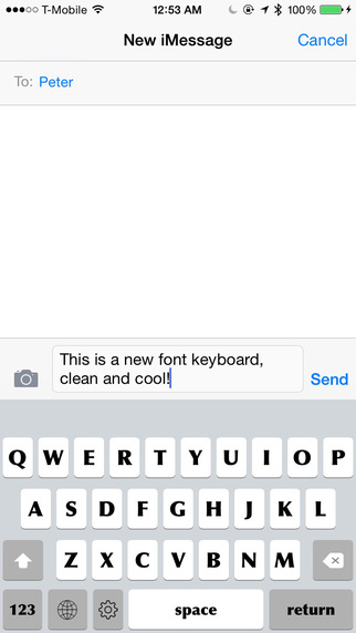 Keyboard of Optima Font: Artistic Style Keys for iOS 8