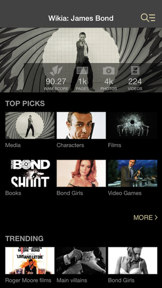 Wikia: James Bond Fan App