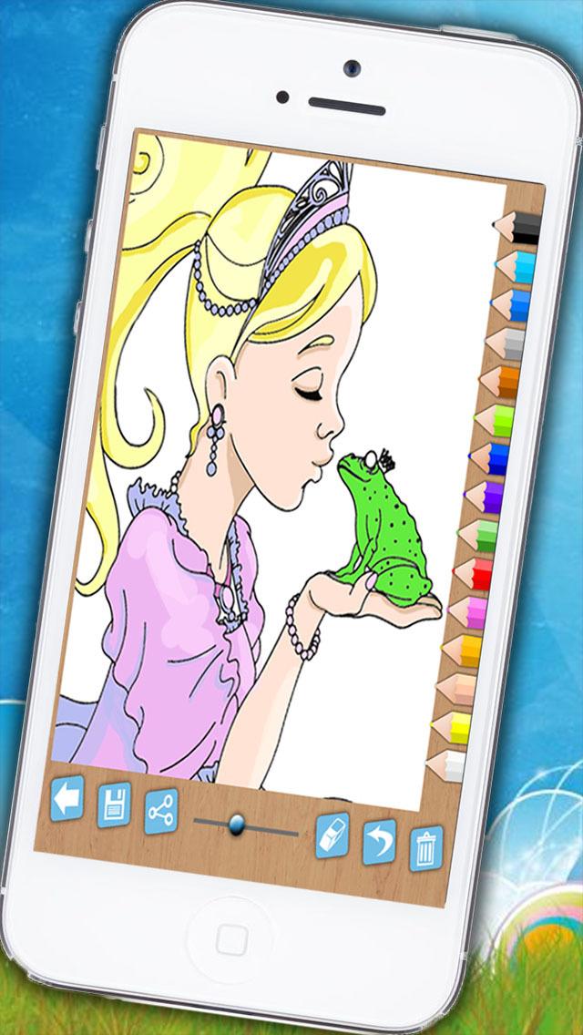 可爱女孩学画画