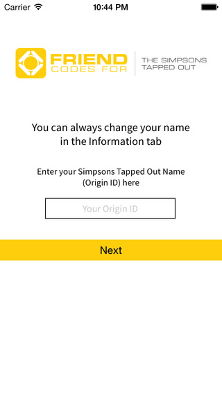 Friend codes for The Simpsons Tapped Out