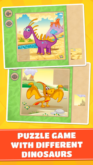 Cute Small Dinosaurs Puzzle Game - Free