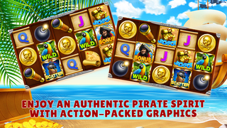 Screenshot 1 Slots Pirates Treasure — Free Slot Machine Game