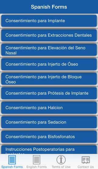 Implant Consents: Spanish English
