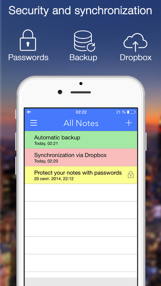 Notes Note-Ify: Colorful notes with Reminders TextExpander and Dropbox synchronization