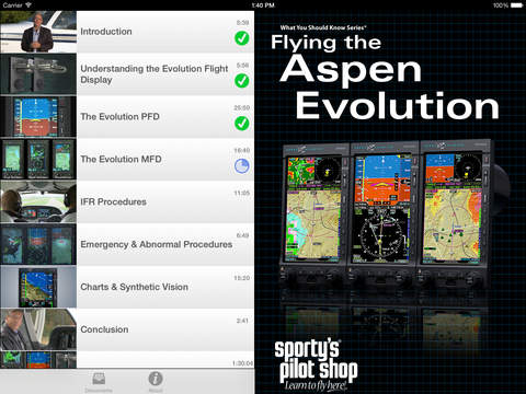 Flying the Aspen Evolution