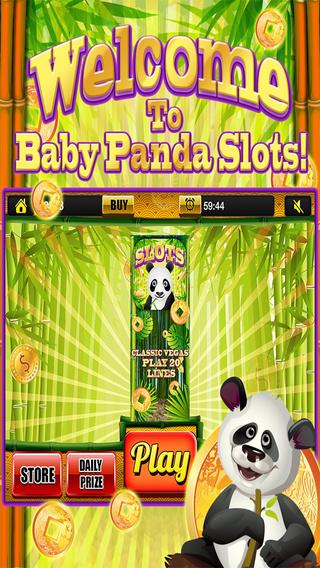 A Baby Panda Slots Casino - Big Winner Bonus Prize Wheel Slot Machine Games HD