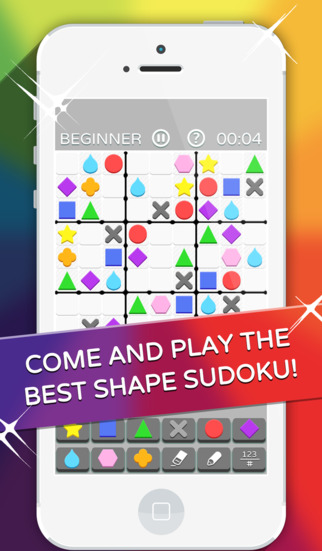 Shape Sudoku Game - Download and Play Fun Puzzles as in the Daily Mail from Beginner to Fiendish