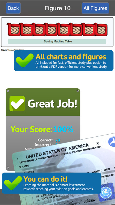 GroundSchool FAA Knowledge Test Prep - Parachute Rigger iPhone Screenshot 5