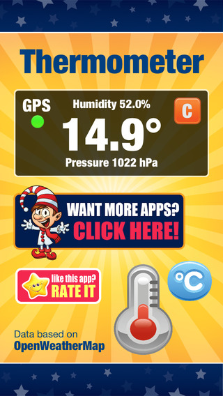 Thermometer - temperature humidity atmospheric pressure in your location