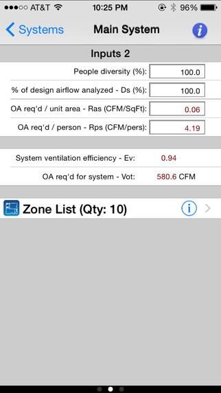 HVAC ASHRAE 62.1 iPhone Screenshot 4