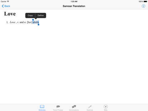 Samoa Language iPad Screenshot 4