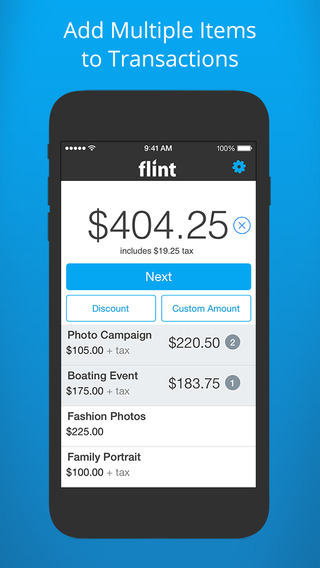 Flint Mobile - Instantly Accept Credit Card Payments and Send Free Invoices with Online Bill Payment