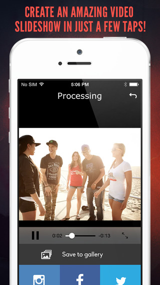 Flipix Free-create amazing slideshow videos and share them on your social networking sites
