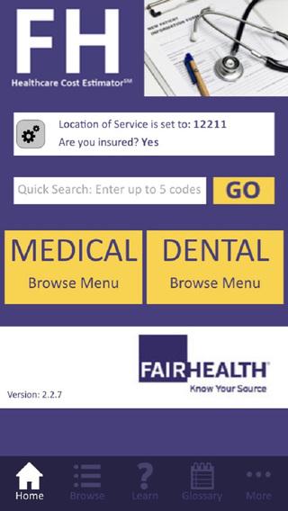 FAIR Health Cost Lookup