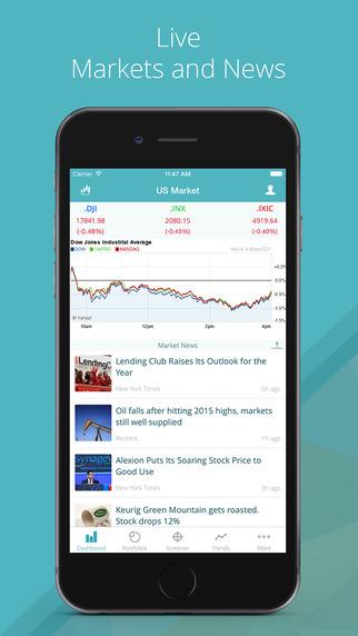 GoFinance for Google Finance App: Stock Portfolios Screener US Exchanges and News.