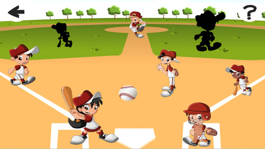 Academy Baseball: Shadow Game for Children to Learn and Play