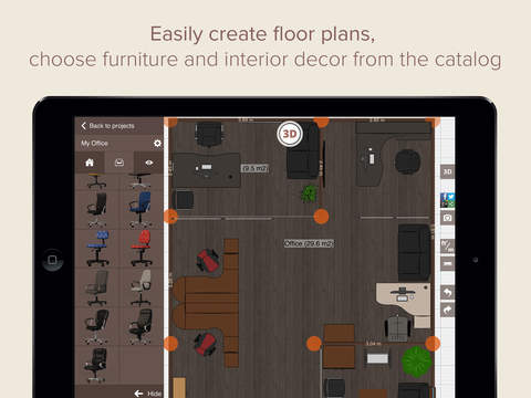 Office Design - office plans interior design and decor in 2D 3D