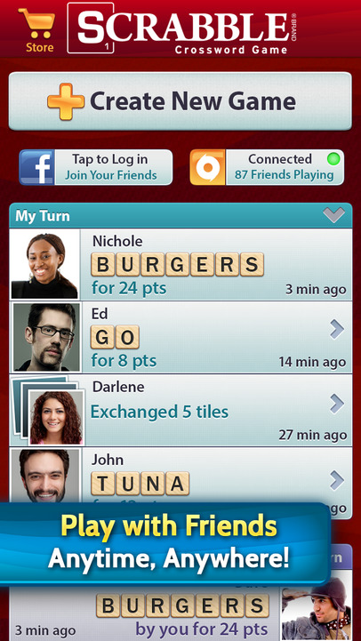 SCRABBLE - iPhone Mobile Analytics and App Store Data