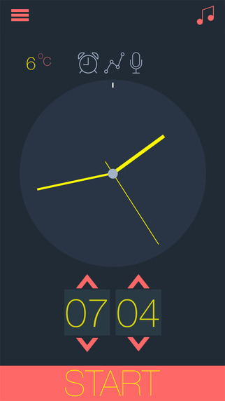 Smart Alarm - Sleep cycle examination graph and statistics for better health and rest