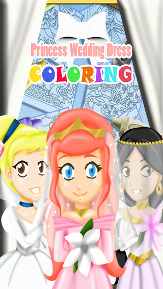Princess Wedding Dress Coloring PRO - Magical Make