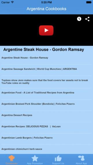 Argentina Cookbooks - Video Recipes
