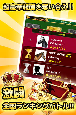 競馬ソーシャル(HORSE RACING SOCIAL) screenshot 4