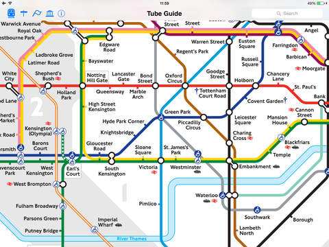 London Tube Map and Guide - Live train departure and line status